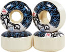 Bones Bartie Flowers Skateboard wheels 4-Pack
