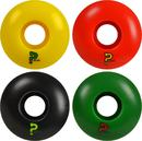Enuff Refreshers Rasta Skateboard Wheels 4-Pack