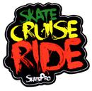 Sticker Skate Cruise Ride Rasta