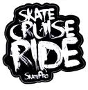 Skate Cruise Ride White Sticker