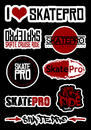 Feuille de stickers SkatePro