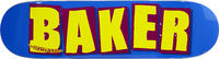 Baker Brand Logo Skateboard Deck Blue/Yellow