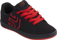 Etnies Fader LS Noir/Noir/Rouge Enfants Patin Shoes