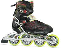 Fila Plume X-Wrap 90 Black/Red/Lime Inline Skates
