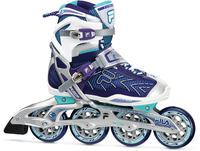 Fila Plume X-Wrap 90 Purple/Light Blue Inline Skates