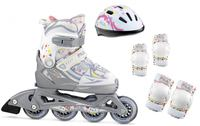Fila X-One Girl White Combo Set Kids inline skates