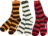 Globe Thin Stripe Boot Deluxe Skate Socks 3-Pack