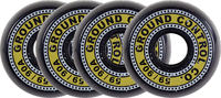 Ground Control 59mm Black/Yellow Skate Wheels 4-Pack