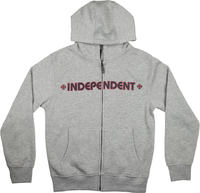 Independent Barre Cross Zip Sweat à capuche