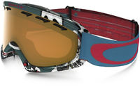 Oakley O2 XS Shady Trees Bleu Rouge/Persimmon Masques de ski