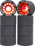 Roll-Line Gladiator Roller Skate Wheels 8-pack