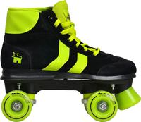 Rookie Retro Black/Lime Quad Roller Skates