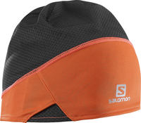 Salomon S-Lab Léger Noir Orange Ski Beanie