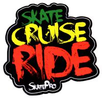 Skate Cruise Ride Rasta Sticker