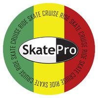 Sticker SkatePro Rasta