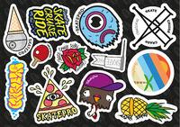 SkatePro Sticker Sheet