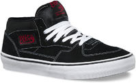 Vans Half Cab Pro Black/White/Red Skate Shoes